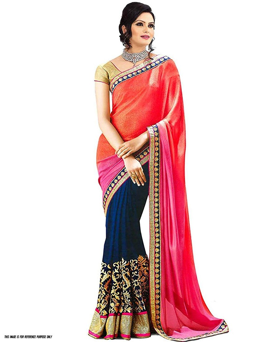 KF - Stylish multi color thread work saree