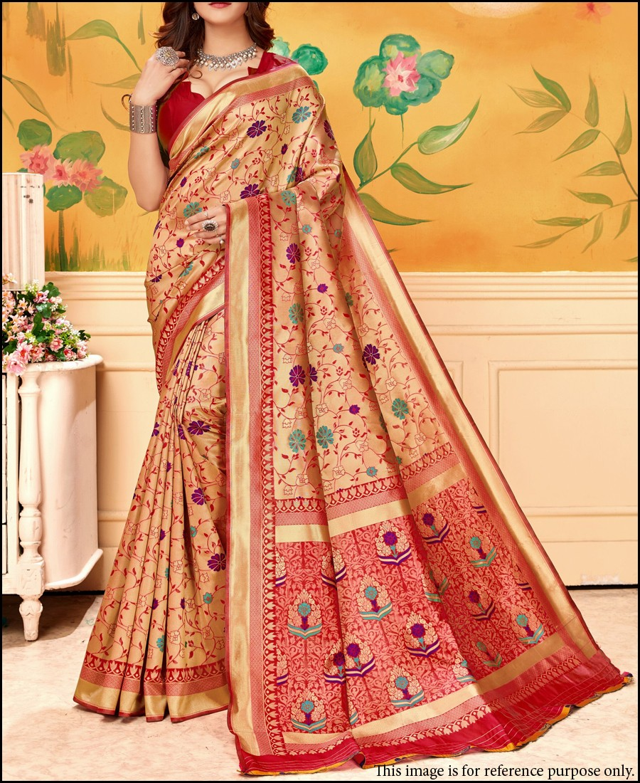 BF - Traditional wear banarasi kota silk red saree