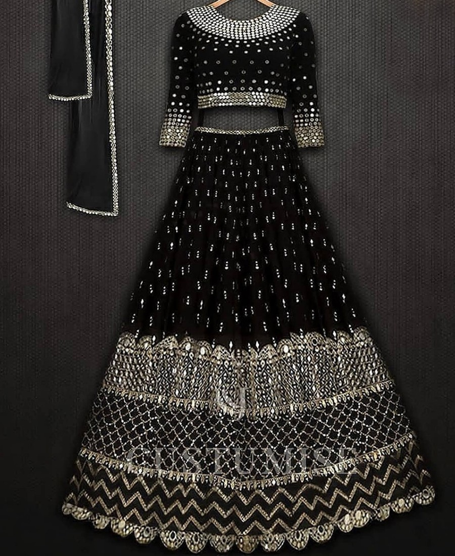 RE - Partyblack Georgette sequence embroidered lehenga choli