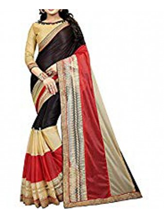 Kamal fashion - Multi color Lycra Pearl work Saree