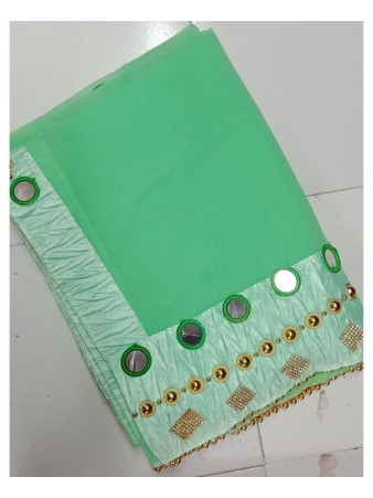 RE - Incipient Green Georgette Hand work Saree