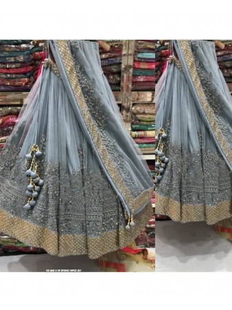 RE - Irresistible grey embroidered hand work lehenga