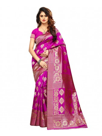 FC - Sempiternal Pink Soft cotton silk jacquard border weaving Saree