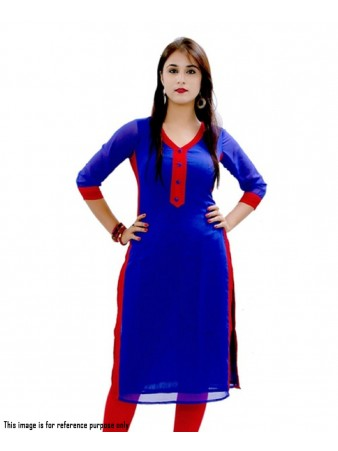 BT - Offing blue indo cotton casual kurti