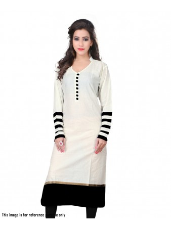 BT - Offing white indo cotton casual kurti