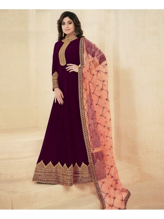 RF -Abaya Style Purple Georgette Anarkali Suit
