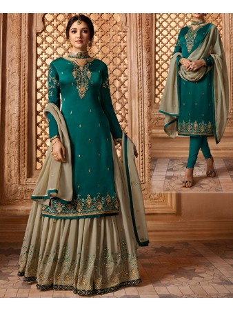 RF - Super model rama georgette satin Sharara style Suit