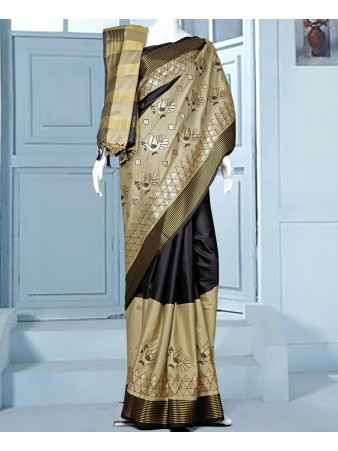 RE - Pleasing Multi color aura silk embroidered saree